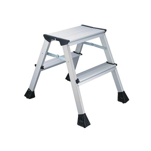 2Work Mini 2-Step Ladder Metal 460mm L2