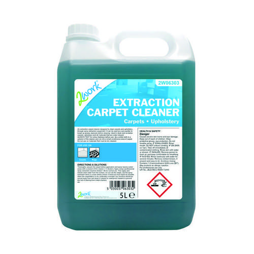 2Work Extraction Carpet Cleaner Concentrate 5 Litre Bulk Bottle 2W06303