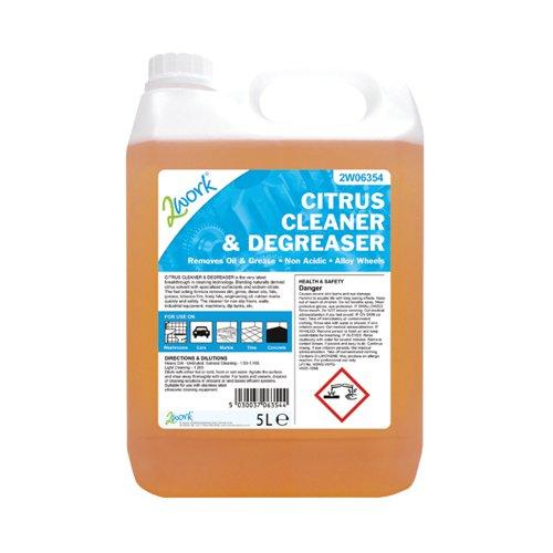 2Work Citrus Cleaner and Degreaser 5Ltr