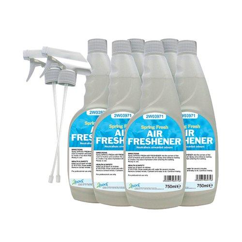 2Work Air Freshener Trigger 750ml (Pack of 6) 2W07248