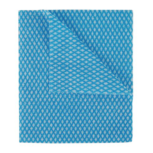 2Work Economy Cloth 420x350mm Blue (Pack of 50) 100226B