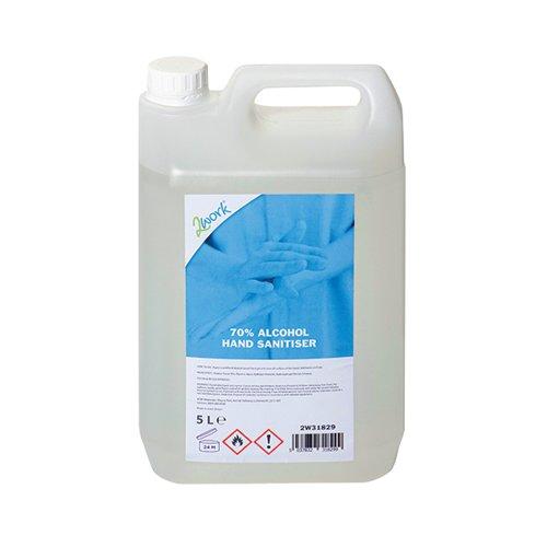 2Work 70 Percent Alcohol Hand Sanitiser Gel 5L 2W31829