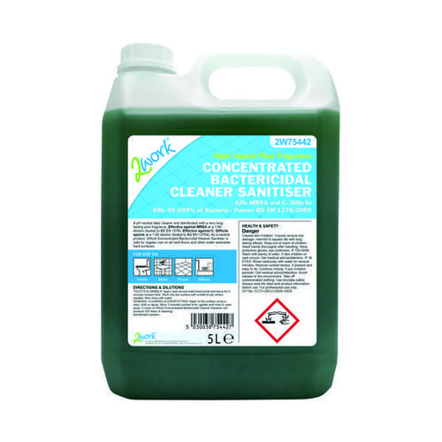 2Work Concentrated Bactericidal Cleaner Sanitiser 5 Litre