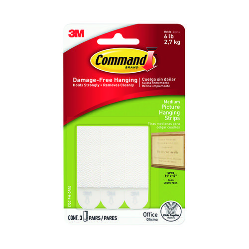 3M Command Medium Picture Hanging Strips (Pack of 4) 17201-4PK