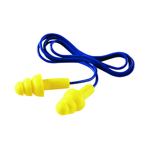 3M Ultrafit Corded Ear Plugs One Size (Pack of 50) UF-01-000