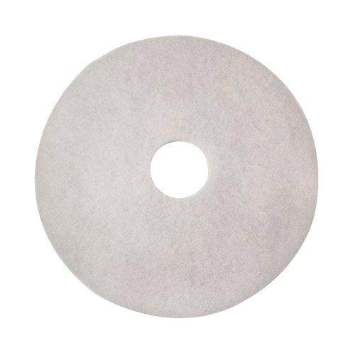 3M Polishing Floor Pad 430mm White (Pack of 5) 2NDWH17