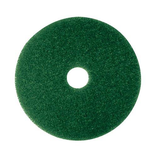 3M Scrubbing Floor Pad 380mm Green (Pack of 5) 2ndGN15