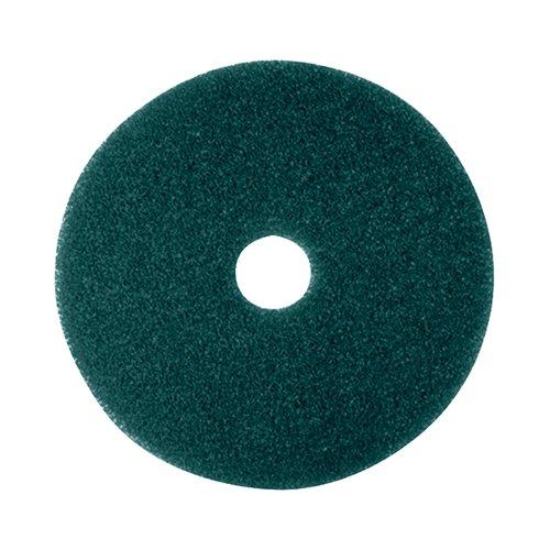 3M Scrubbing Floor Pad 430mm Green (Pack of 5) 2NDGN17