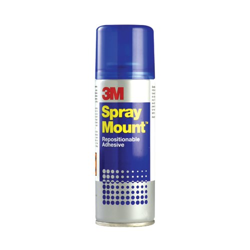 Image for 3M SprayMount Transparent Repositioning Adhesive 400ml SMOUNT