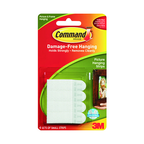 3M Command Small Picture Hanging Strips (Pack of 4) 17202