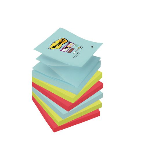 Post-it Super Sticky Z-Notes 76 x 76mm Miami (Pack of 6) R330-6SS-MIA