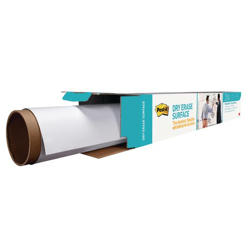 Post-it Super Sticky Dry Erase Film Roll 1219x1829mm White DEF6X4-EU