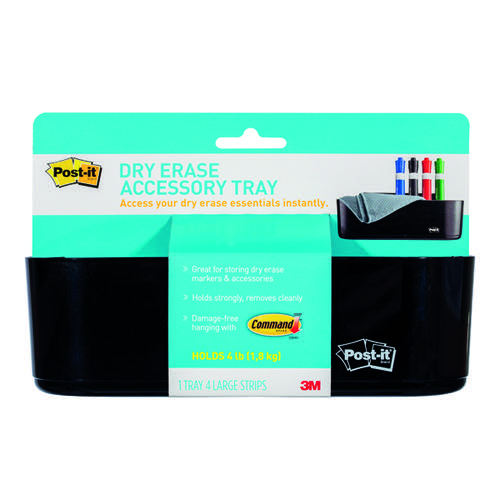 Post-it Dry Erase Accessory Tray w/ 4 Large Command Strips DEFTRAY-EU