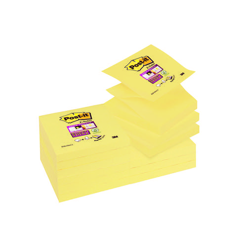 Post-it Super Sticky 76x76mm Z-Notes Canary Ylw(Pack of 12 R330-12SSCY