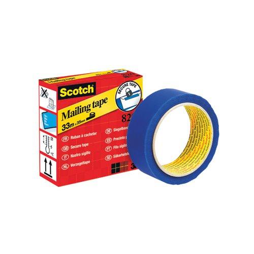 Scotch Secure Mailing Tape 35mm x 33m Blue 820