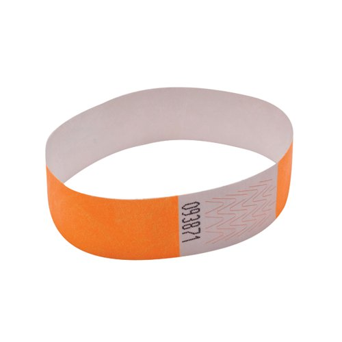 Announce Wrist Band 19mm Orange (Pack of 1000) AA01836