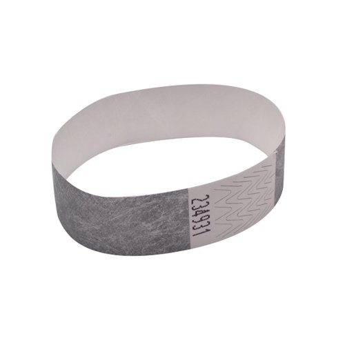 Announce Wrist Band 19mm Silver (Pack of 1000) AA01838
