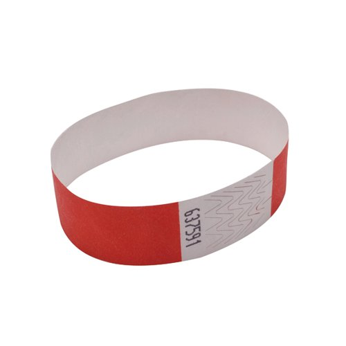 Announce Wrist Band 19mm Red Pk1000