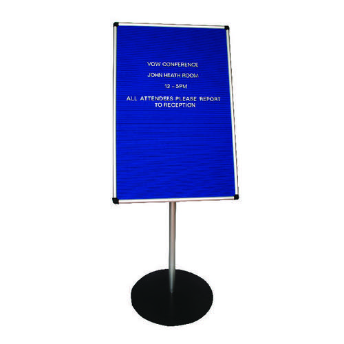 Announce Groove Letter Board with 1.1m Stand (Dimensions: 900 x 600mm) AA847001