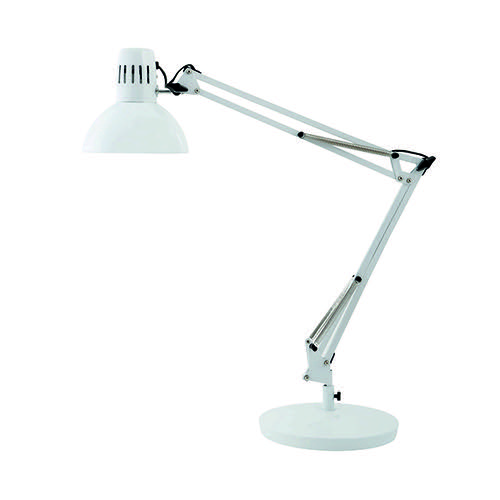 Alba Architect White Desk Lamp