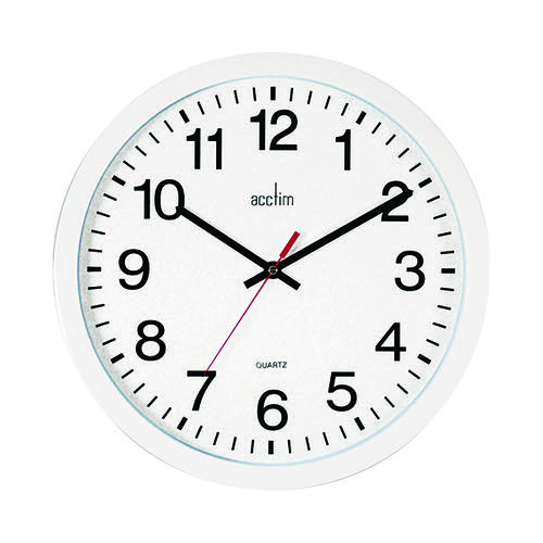 Acctim Controller Silent Sweep Wall Clock 368mm White 93/704