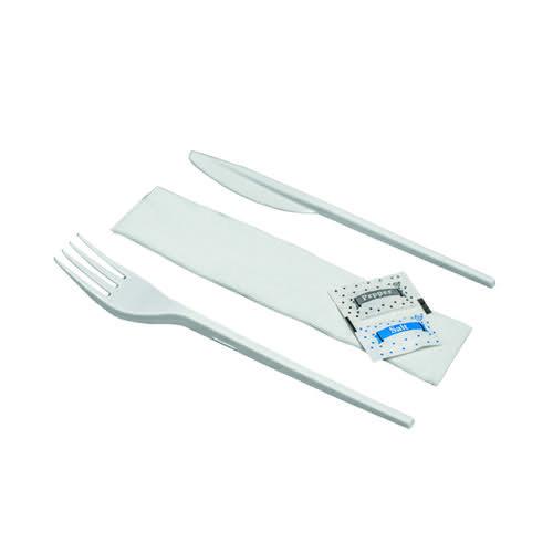 Knife Fork Spoon Napkin Salt Pepper Meal Pack (Pack of 250) MEALPACK5