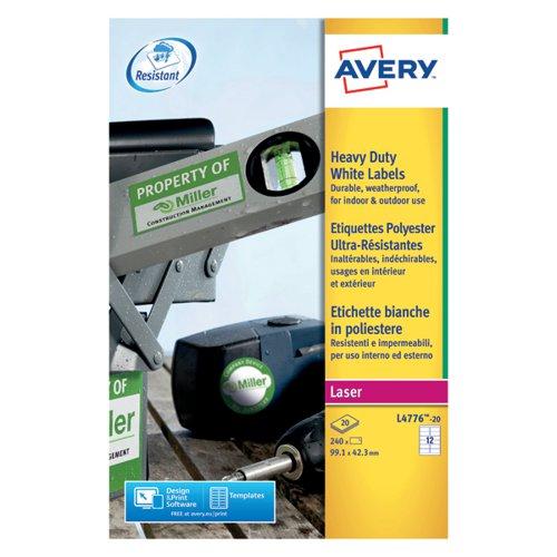 Avery HD Label 99.1x42.3mm 12 per sheet PK240