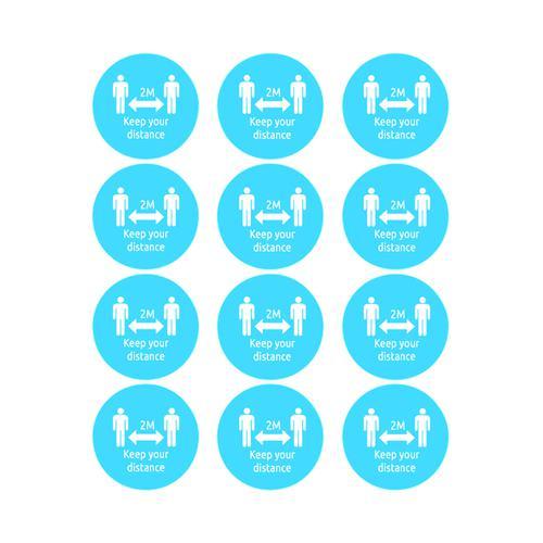Avery Covid19 Social Distancing Circular Name Badges Pack 48