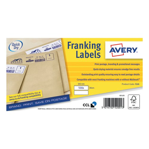 Avery Franking Label Double All FL01