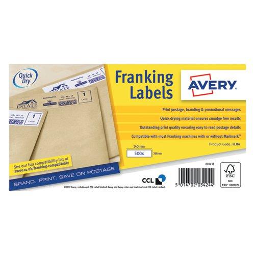 Avery Franking A/Hpper Label 140x38 FL04
