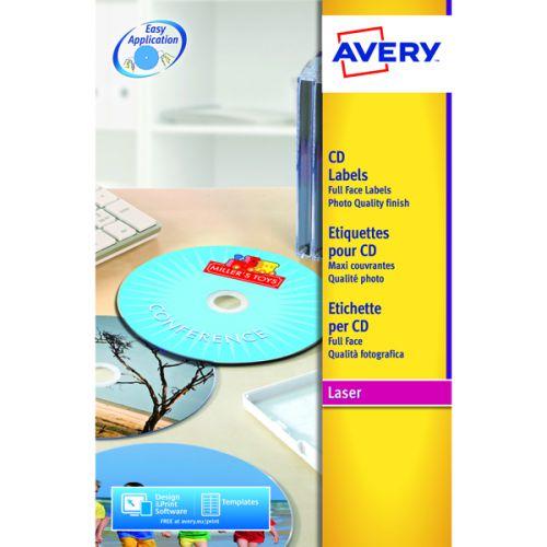 Avery Glossy Col Laser F/Face CD/DVD