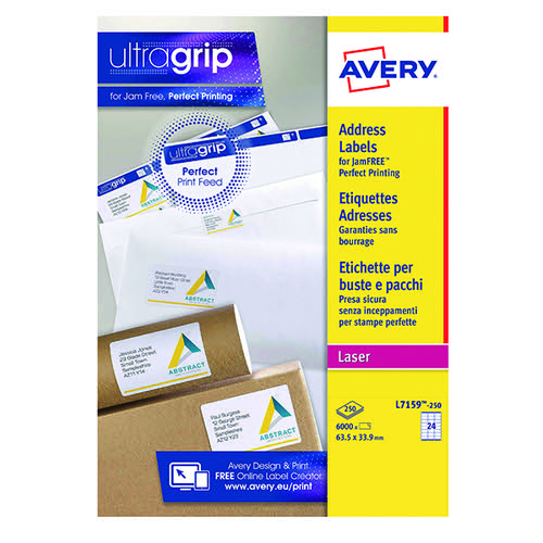 Avery L7159-250 Laser Addr Labels Pk250