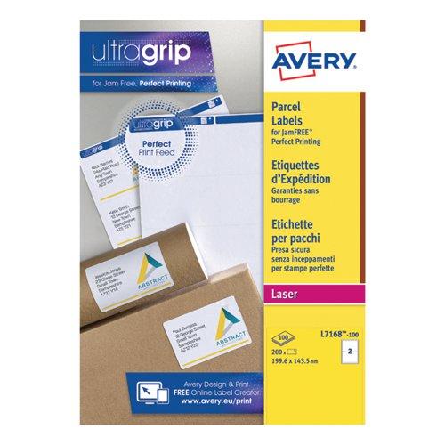 Avery Jam-Free L7168-100 Labels Pk200
