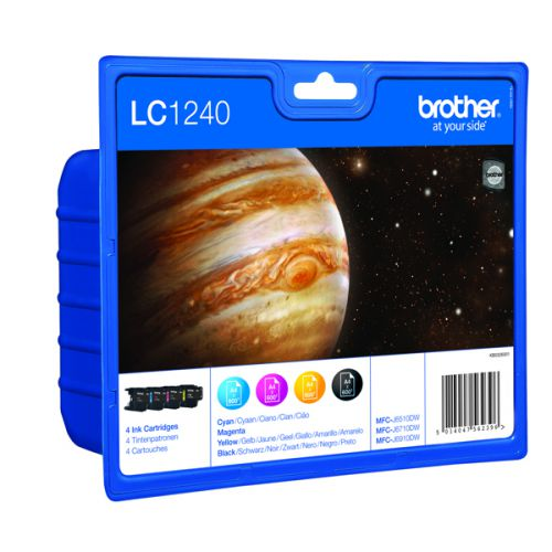 Brother LC1240 CMYB Ink Value Pack Pk4