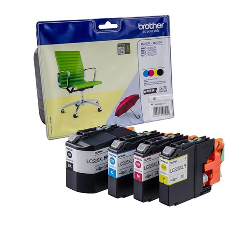 Brother LC225XL/LC229XL Inks CMYB Pack