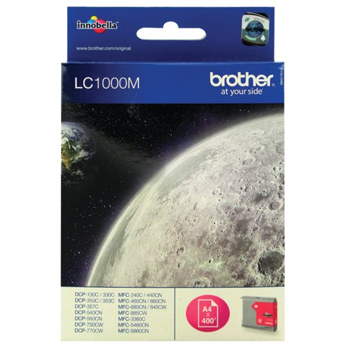 Brother Magenta LC1000M Inkjet Cartridge
