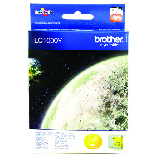 Brother LC1000Y Yellow Inkjet Cartridge