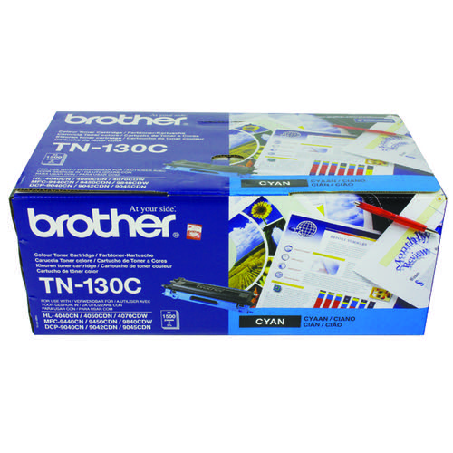 Brother TN130C Cyan Laser Toner Cartridge (1500 page capacity) TN-130C