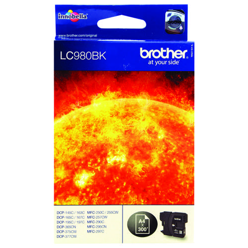 Brother LC980BK Black Ink Cart LC-980BK