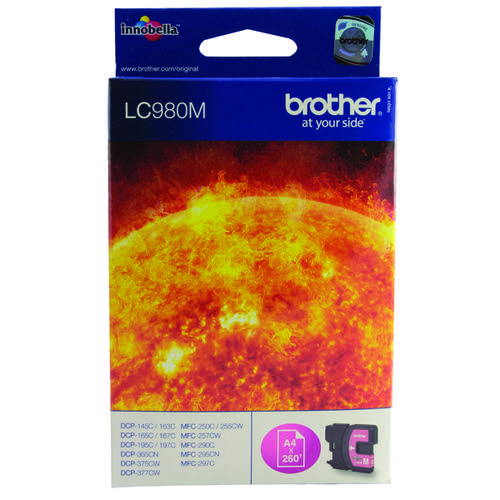 Brother LC980M Magenta Inkjet Cartridge