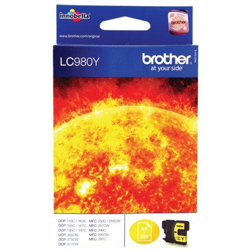 Brother LC980Y Yellow Inkjet Cartridge