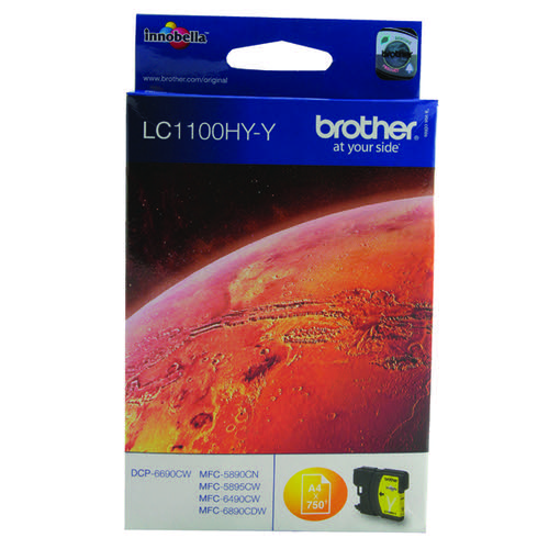 Brother LC1100 Yellow Ink LC1100HYY