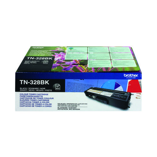 Brother TN-328BK / TN328BK Black Toner