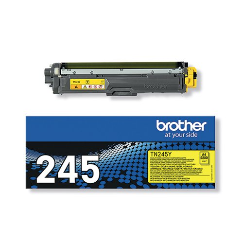 Brother TN-245Y Yellow Toner Cartridge High Capacity TN245Y