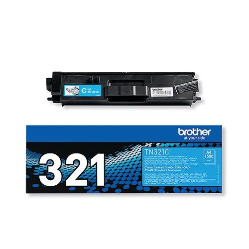 Brother TN321C Cyan Laser Toner Cartridge (2500 page capacity) TN-321C