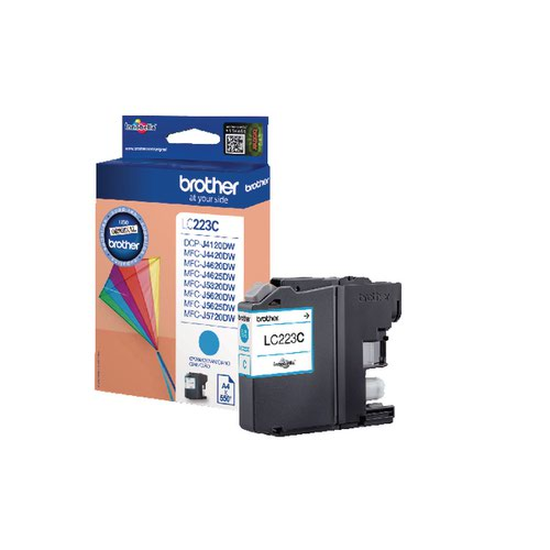Brother LC223C Cyan Ink Cart LC-223C