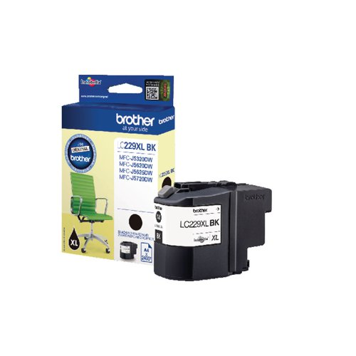 Brother LC229XLBK Black Ink LC-229XLBK
