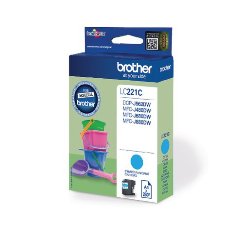 Brother Cyan LC221C Ink Cartridge