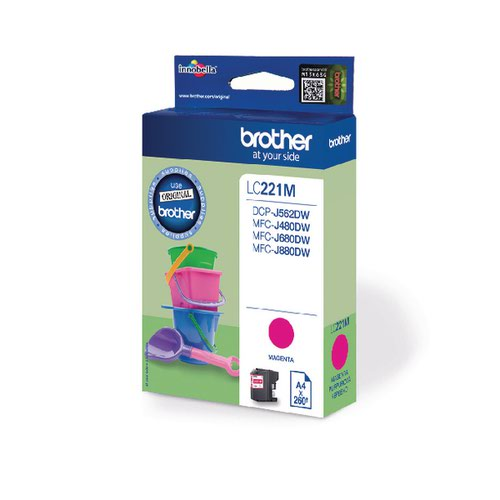 Brother Magenta LC221M Ink Cartridge