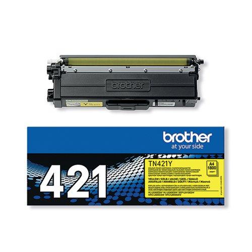 Brother TN-421 Yellow Toner Cartridge TN421Y